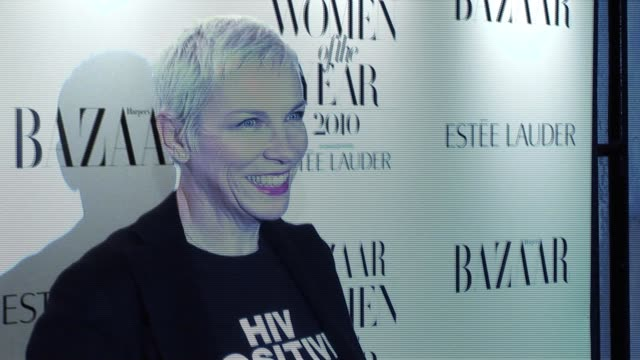 Annie Lennox arrives for the Harper's Bazaar Awards Harper's Bazaar Women Of The Year Awards at One Mayfair on November 01 2010 in London