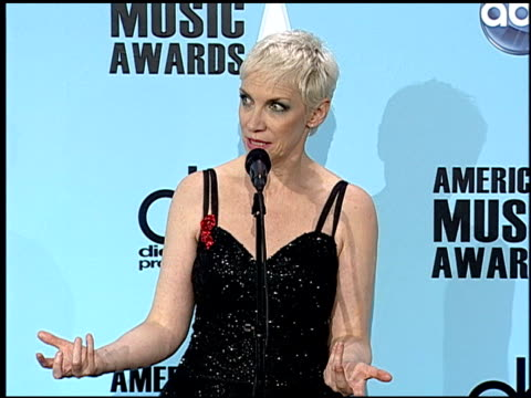 Annie Lennox at the 2008 American Music Awards press room at Los Angeles CA