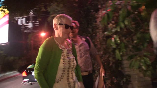 Annie Lennox departing the Paul McCartney Performance at Chateau Marmont in Celebrity Sightings in Los Angeles