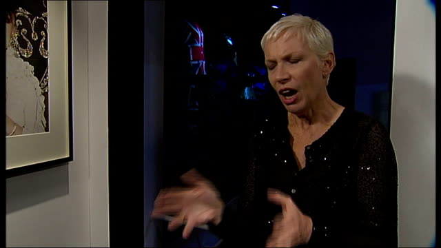Annie Lennox exhibition at Victoria and Albert Museum interview and GVs ENGLAND London Victoria and Albert Museum INT Annie Lennox interview SOT...