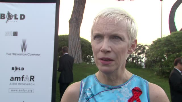 Annie Lennox on how a trip to a poor township in South Africa changed her perception about the AIDS epidemic at the Cannes Film Festival 2009 amfAR...