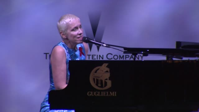 Annie Lennox performs at the Cannes Film Festival 2009 amfAR Auction at Antibes