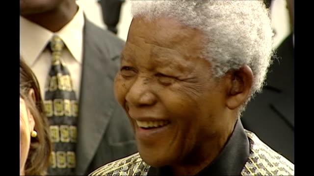 Annie Lennox to sing at Mandela birthday concert DATE Mandela smiling and talking