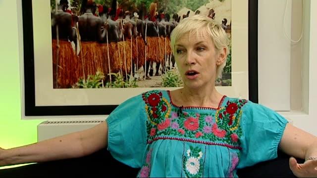Annie Lennox to sing at Mandela birthday concert INT Annie Lennox interview SOT