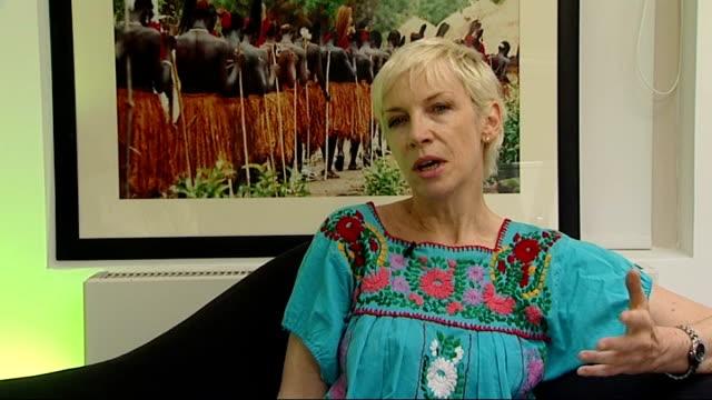 Annie Lennox to sing at Mandela birthday concert Lennox interview SOT