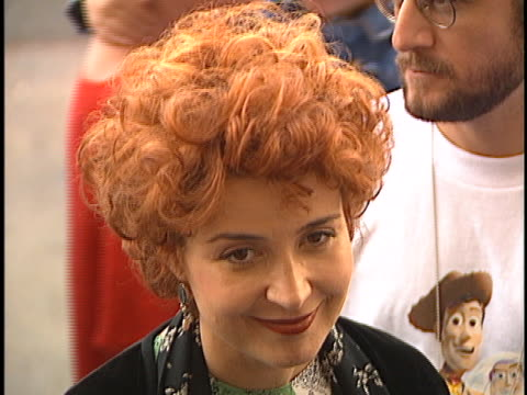 annie potts at the toy story premiere at el capitan theater hollywood in hollywood ca - el capitan theatre stock videos & royalty-free footage