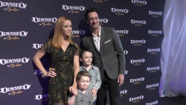 annie wersching and stephen full at the celebrity premiere of cavalia odysseo under the white big top on november 11 2017 in camarillo california - camarillo stock videos & royalty-free footage