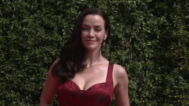 annie wersching at the 2015 creative arts emmy awards at microsoft theater on september 12 2015 in los angeles california - annie wersching stock videos and b-roll footage