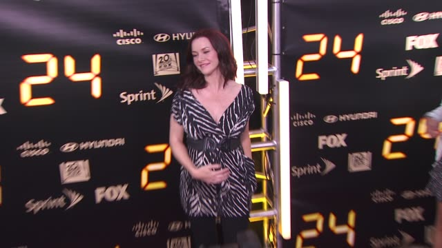 annie wersching at the '24' series finale party at hollywood ca - annie wersching stock videos and b-roll footage