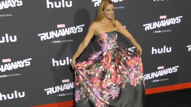 annie wersching at the premiere of hulu's 'marvel's runaways' on november 16 2017 in los angeles california - annie wersching stock videos and b-roll footage