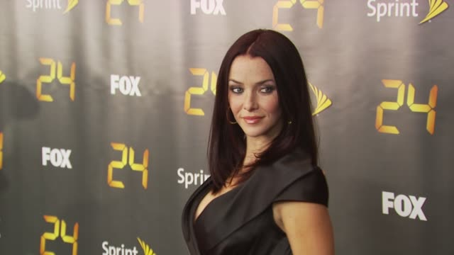 annie wersching at the season eight of '24' new york premiere screening at new york ny - annie wersching stock videos and b-roll footage