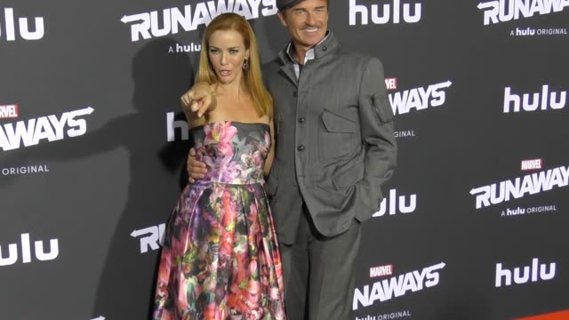 annie wersching julian mcmahon at the premiere of hulu's 'marvel's runaways' on november 16 2017 in los angeles california - annie wersching stock videos and b-roll footage