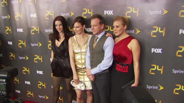 annie wersching mary lynn rajskub kiefer sutherland and katee sackhoff at the season eight of '24' new york premiere screening at new york ny - annie wersching stock videos and b-roll footage