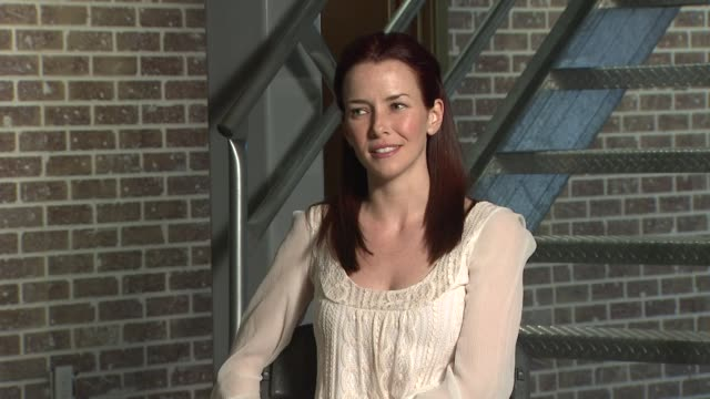 annie wersching on what she likes to do for fun at the behind the scenes annie wersching at los angeles ca - annie wersching stock videos and b-roll footage