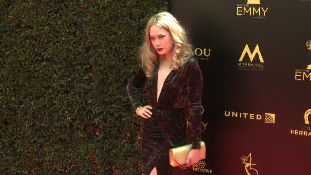 Annika Noelle at the 2018 Daytime Emmy Awards at Pasadena Civic Auditorium on April 29 2018 in Pasadena California