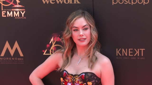 annika noelle at the 2019 daytime emmy awards at pasadena civic center on may 05 2019 in pasadena california - annual daytime emmy awards stock videos & royalty-free footage