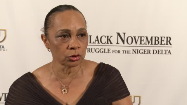 annikio reid briggs says she is honored that her real life actions served as inspiration for this movie at black november screening in washington dc... - john f. kennedy center for the performing arts stock videos and b-roll footage