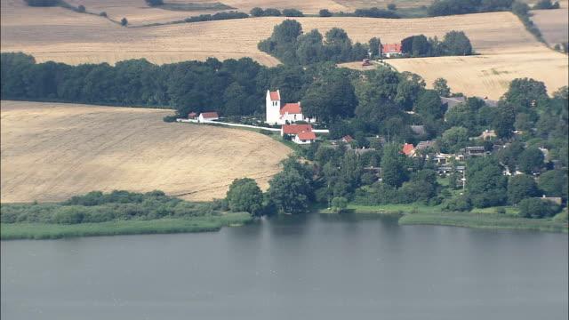 annisse - aerial view - capital region, denmark - capital region stock videos & royalty-free footage