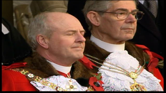 remembrance day ceremonies city of london raf helicopters taking past in flypast new lord mayor of london john stuttard st paul's cathedral war... - lord mayor of london city of london stock videos & royalty-free footage