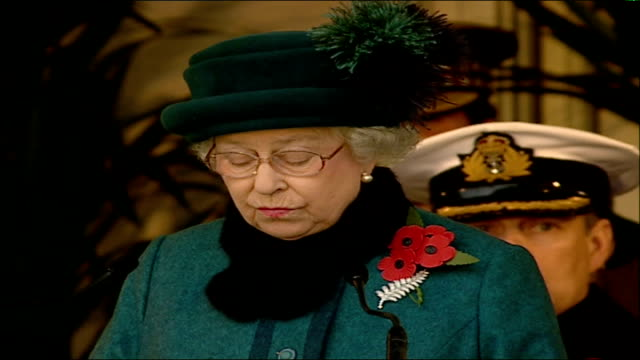 remembrance day ceremonies queen elizabeth ii speech sot talks of bonds between the uk and new zealand - remembrance day stock videos & royalty-free footage