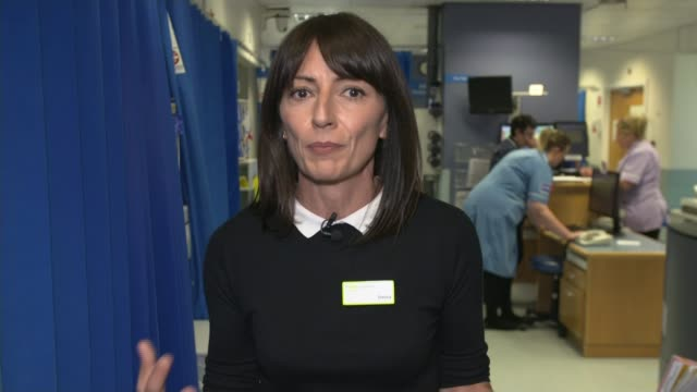 itv tonight programme looks at ae at leeds general infirmary england london gir int davina mccall 2 way interview from leeds general hospital sot - nhs stock videos & royalty-free footage