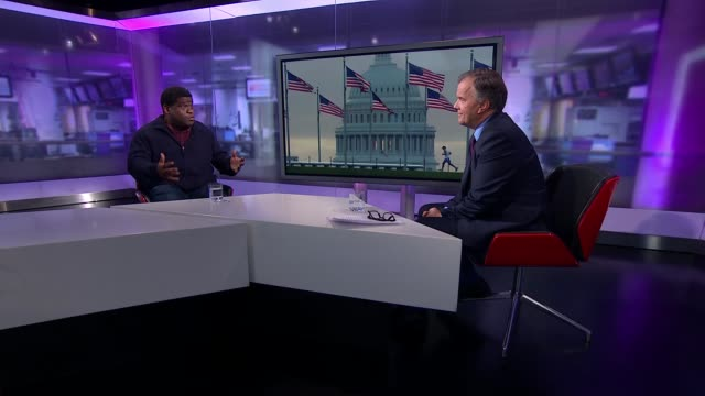 Anniversary of election of President Trump Journalist Gary Younge interview ENGLAND London GIR INT Gary Younge LIVE STUDIO Interview SOT On interview...