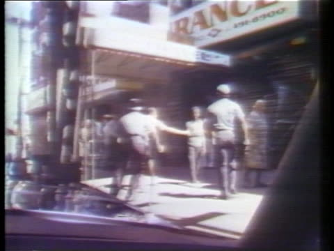 anniversary special of the new york city blackout, 1977 on july 14, 1977 in new york city. - ラジオ放送点の映像素材/bロール