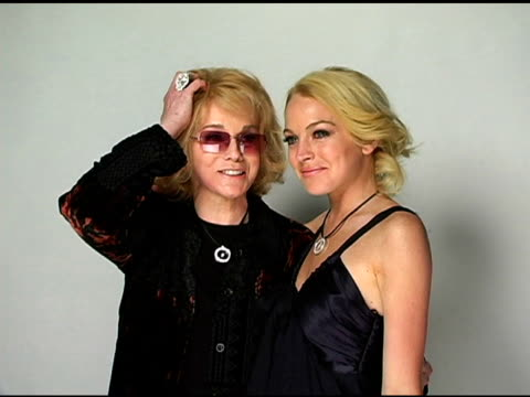 annmargret and lindsay lohan at the hollywood life's young hollywood awards portrait studio on may 1 2005 - ann margret stock videos & royalty-free footage