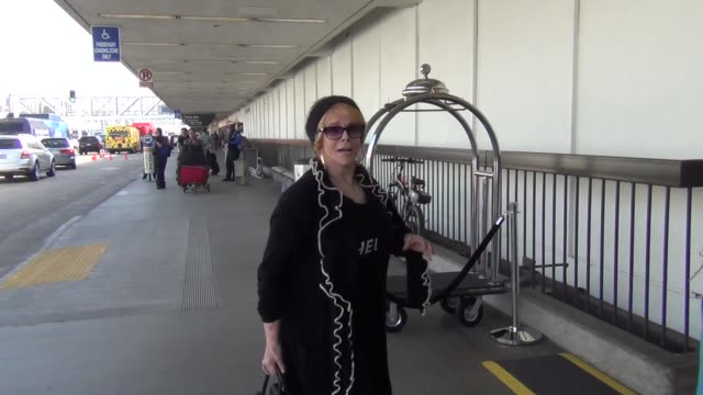 annmargret at los angeles international airport at celebrity sightings in los angeles on october 23 2015 in los angeles california - ann margret stock videos & royalty-free footage