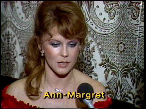 AnnMargret explains what she does to keep looking beautiful and how she keeps together AnnMargret interview on January 01 1981 in Los Angeles...