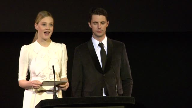 announcement for best film by romola garai and matthew goode at the 2010 orange bafta nominations at london england - matthew goode stock videos & royalty-free footage