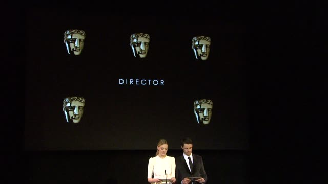 announcement for director by romola garai and matthew goode at the 2010 orange bafta nominations at london england - matthew goode stock videos & royalty-free footage