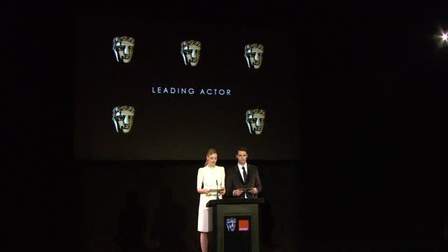 announcement for leading actor by romola garai and matthew goode at the 2010 orange bafta nominations at london england - matthew goode stock videos & royalty-free footage