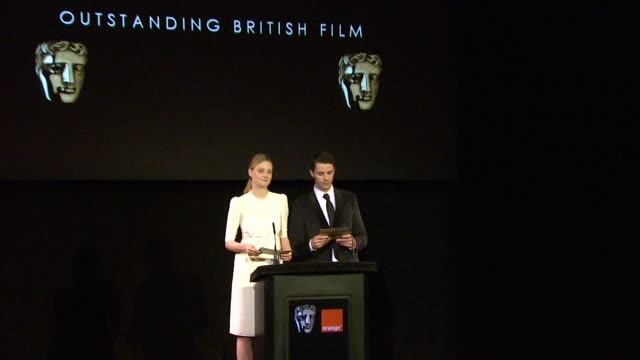 announcement for outstanding british film by romola garai and matthew goode at the 2010 orange bafta nominations at london england - matthew goode stock videos & royalty-free footage