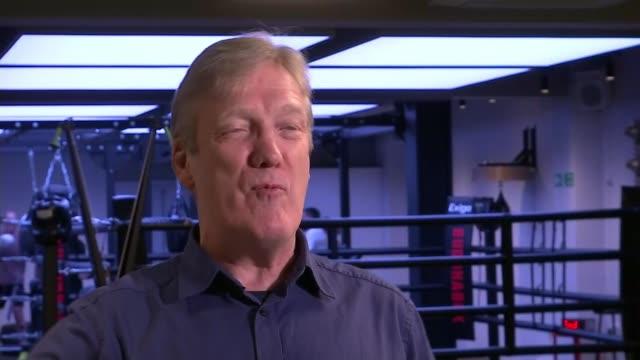 announcer gets dream job as professional boxing mc; england: london: mayfair: int robert warren interview sot - professional sportsperson stock videos & royalty-free footage