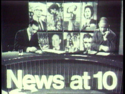 itv announces news shakeup news at ten to move b/w itn 'news at ten' titles with old music overlaid b/w andrew gardner speaking to camera king... - itv news at ten stock-videos und b-roll-filmmaterial