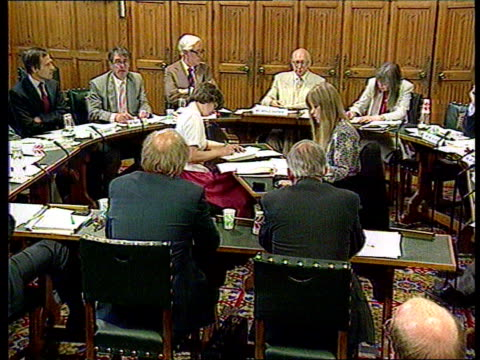 itv announces news shakeup news at ten to move tony blair mp out of car to number 10 int gerald kaufman mp sitting at meeting of select committee... - itv news at ten stock videos & royalty-free footage