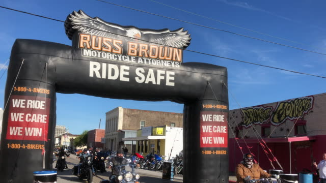 annual bikers gathering event held in galveston, texas. - texas stock videos & royalty-free footage