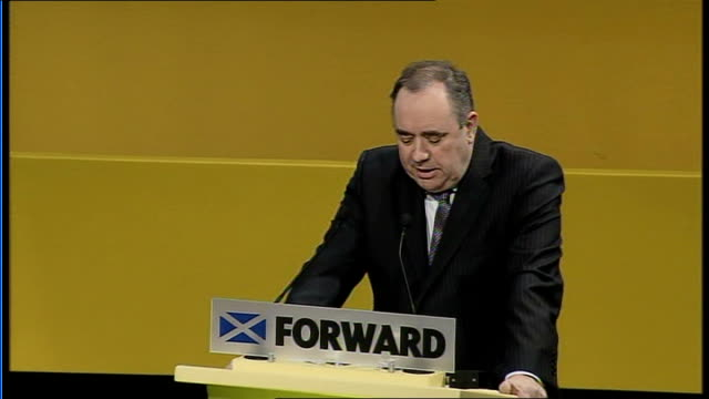 stockvideo's en b-roll-footage met annual conference / alex salmond call for independence; alex salmond speech sot - the days of westminster politicians telling scotland what to do or... - itv weekend evening news