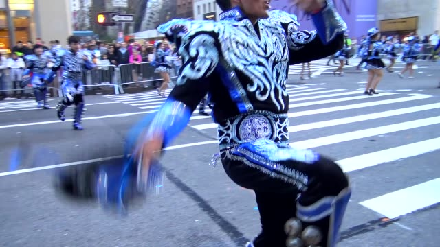 annual hispanic day parade on fifth avenue in manhattan new york city usa on october 11 2015 - desfile stock videos & royalty-free footage