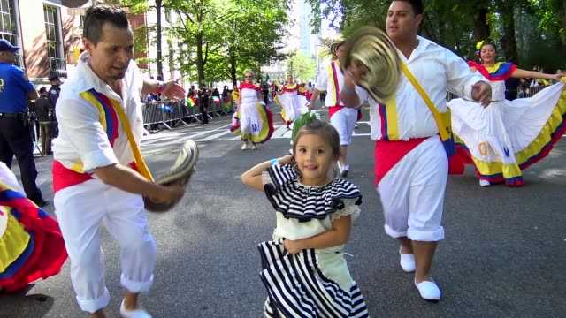 Annual Hispanic Day Parade on Fifth Avenue in Manhattan New York City USA on October 11 2015