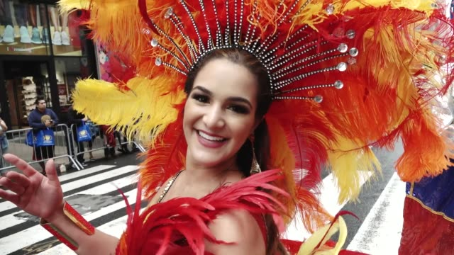 Annual Hispanic Day Parade on Fifth Avenue in Manhattan New York City USA
