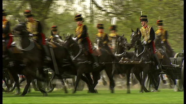 annual inspection of king's troop royal horse artillery england london regent's park ext general views of soldiers of the king's troop royal horse... - royal horse artillery stock videos and b-roll footage