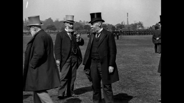 annual inspection of the police at birchfields park 1901 - top hat stock videos & royalty-free footage