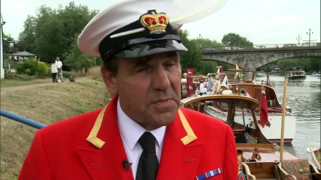 annual swan upping on river thames david barber interview sot - swan stock videos & royalty-free footage