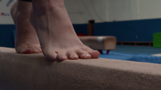 anon gymnast using equipment - limb body part stock videos & royalty-free footage