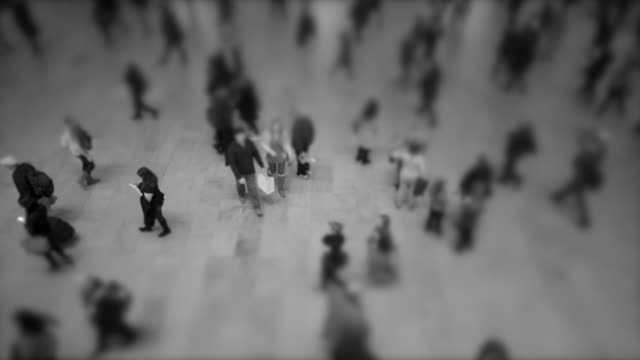 anonym people walking in the city. crowd of pedestrians commuting. crowded urban street - pedestrian stock videos & royalty-free footage