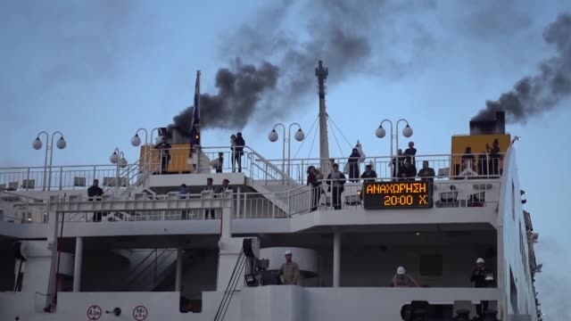 another 168 refugees and migrants from lesvos and chios arrive at the port of piraeus on november 07, 2019. the transfer of migrants from overcrowded... - human interest stock videos & royalty-free footage