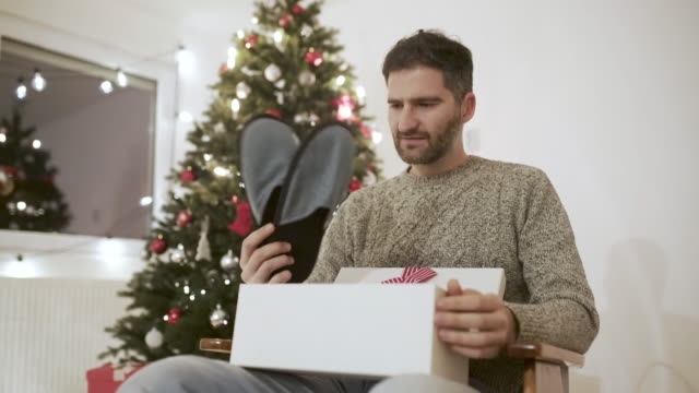 another pair of slippers - christmas stock videos & royalty-free footage