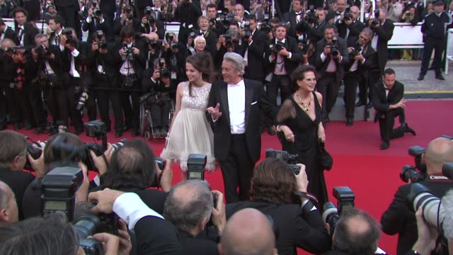 anouchka delon actor alain delon and actress claudia cardinale at the wall street money never sleeps red carpet cannes film festival 2010 at cannes - cannes video stock e b–roll